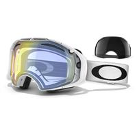 Polished White Frame / H.I. Yellow Lens + Dark Gey Lens (OO7037 35) Oakley Airbrake Snow Goggle