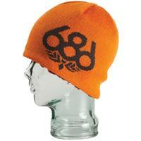 Orange 686 Wreath Fleece Beanie