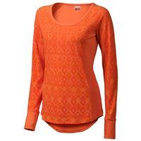 Orange Coral Marmot Gabby LS Womens