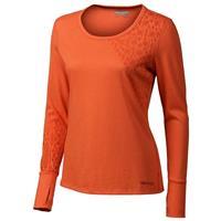 Orange Coral Marmot Kourtney LS Womens