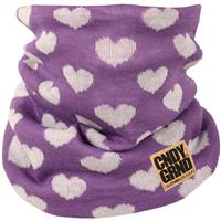 Pastel Purple Candy Grind Heart Knitted Neck Gaiter Womens