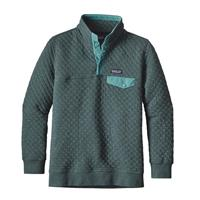 Nouveau Green Patagonia Cotton Quilt Snap T Pullover Womens