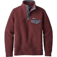 Dark Ruby Patagonia Cotton Quilt Snap T Pullover Womens