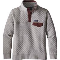 Drifter Grey / Dark Ruby Patagonia Cotton Quilt Snap T Pullover Womens