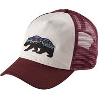 White Patagonia Fitz Roy Bear Layback Trucker Hat Womens