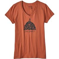 Patagonia Live Simply Summit Stones V Neck T Shirt Womens