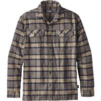 Migration Plaid / Forge Grey Patagonia Long Sleeve Fjord Flannel Shirt Mens