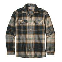 Sug Pine / Khaki Patagonia Long Sleeve Fjord Flannel Shirt Mens