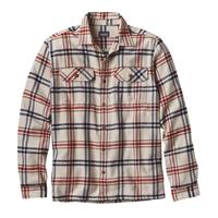 Wind / Toast White Patagonia Longsleeve Fjord Flannel Shirt Mens
