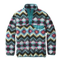 Timber / Violet Patagonia Lightweight Synchilla Snap T Pullover Girls