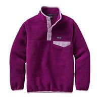 Violet Red Patagonia Lightweight Synchilla Snap T Pullover Girls