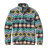 Timber Twist / Navy Patagonia Lightweight Synchilla Snap T Pullover Womens