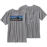 Gravel Heather Patagonia P 6 Logo Cotton T Shirt Mens