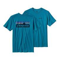 Grecian Blue Patagonia P 6 Logo Cotton T Shirt Mens