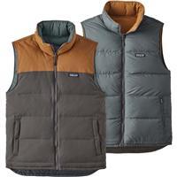 Forge Grey / Bear Brown Patagonia Reversible Bivy Down Vest Mens