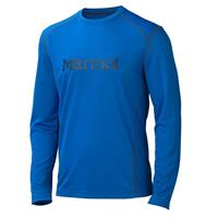Peak Blue/Black Marmot Windridge with Graphic LS Mens