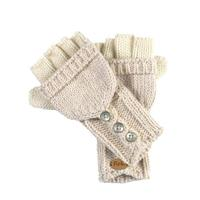 Pearl Turtle Fur Giselle Convertible Mittens Womens