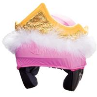 Pink Mental Tiara Helmet Cover Youth