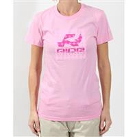 Pink Ride Girlie Logo T Shirt Womens