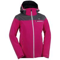 Pink Rose / Dark Grey Melange / White Kjus Vision Jacket Womens