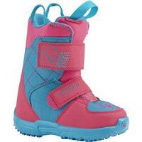Pink / Teal Burton Mini Grom Snowboard Boot Youth