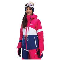 Pink White Dark Blue Picture Organic Clothing Time Jacket Womens
