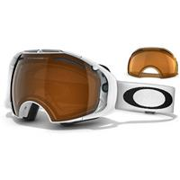 Oakley Airbrake Snow Goggle - Polished White Frame / Black Iridium Lens + Persimmon Lens (57-459)