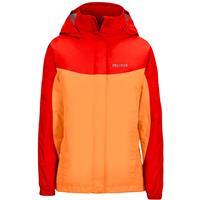 Nectarine / Scarlet Red Marmot Precip Jacket Girls