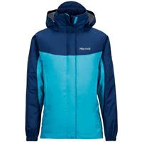 Turquoise / Arctic Navy Marmot Precip Jacket Girls