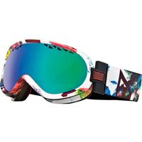 Printed Work of Art Frame / Green Solex Lens Anon Solace Goggle Womens