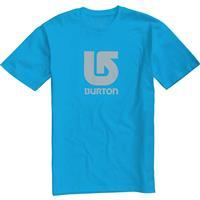 Process Cyan Burton Logo Vertical Fill SS Tee Mens