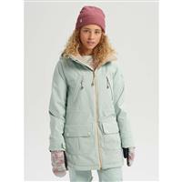 Aqua Gray / Aqua Gray Revel Stripe Burton Prowess Jacket Womens