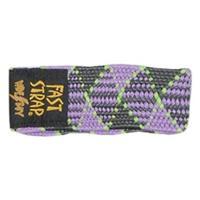 Purple Checkers Lime Fast Strap Wide Boy Ski Strap (2 per pack)