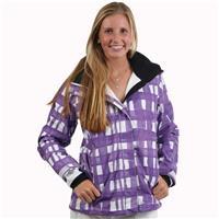 Purple Plaid Roxy Jet Insulated Jacket Womens