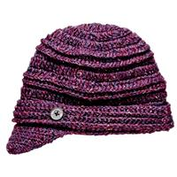 Purple Screamer Danica Billed Beanie Womens