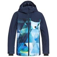 Lime Green Stretch The Universe (325) Quiksilver Mission Block Jacket Boys