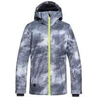 Grey Simple Texture (017) Quiksilver Mission Printed Jacket Boys