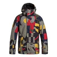 Randomqk Brown Quiksilver Mission Printed Jacket Boys