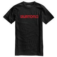True Black Heather Burton Logo Horizontal Recycled Short Sleeve Tee Mens