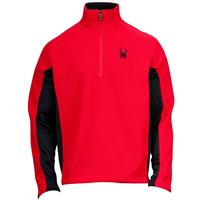Red / Black Spyder Outbound 1/2 Zip Mid Weight Core Sweater Mens
