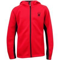 Red / Black Spyder Upward Full Zip Hoody Core Sweater Boys