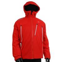 Red / Gunmetal Kjus Helium Jacket Mens