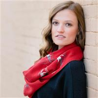 Red / Ivory / Charcoal Krimson Klover First Tracks Infinity Scarf