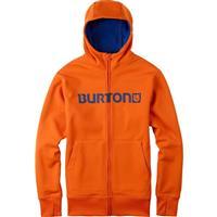 Red Orange Burton Bonded Full Zip Hoodie Mens