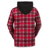 Red Plaid Volcom Field Bonded Flannel Mens back