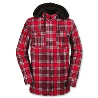 Red Plaid Volcom Field Bonded Flannel Mens front