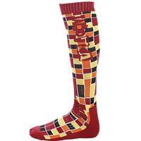Red Volcom Blocks Acrylic Sock Mens
