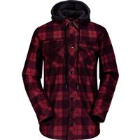 Red Volcom Hood Flannel Mens
