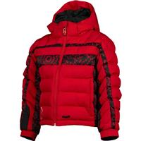 Red / Web/Bug Print Spyder Mini Puff Jacket Boys