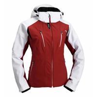 Red/White/Black Kjus Drome Jacket Womens